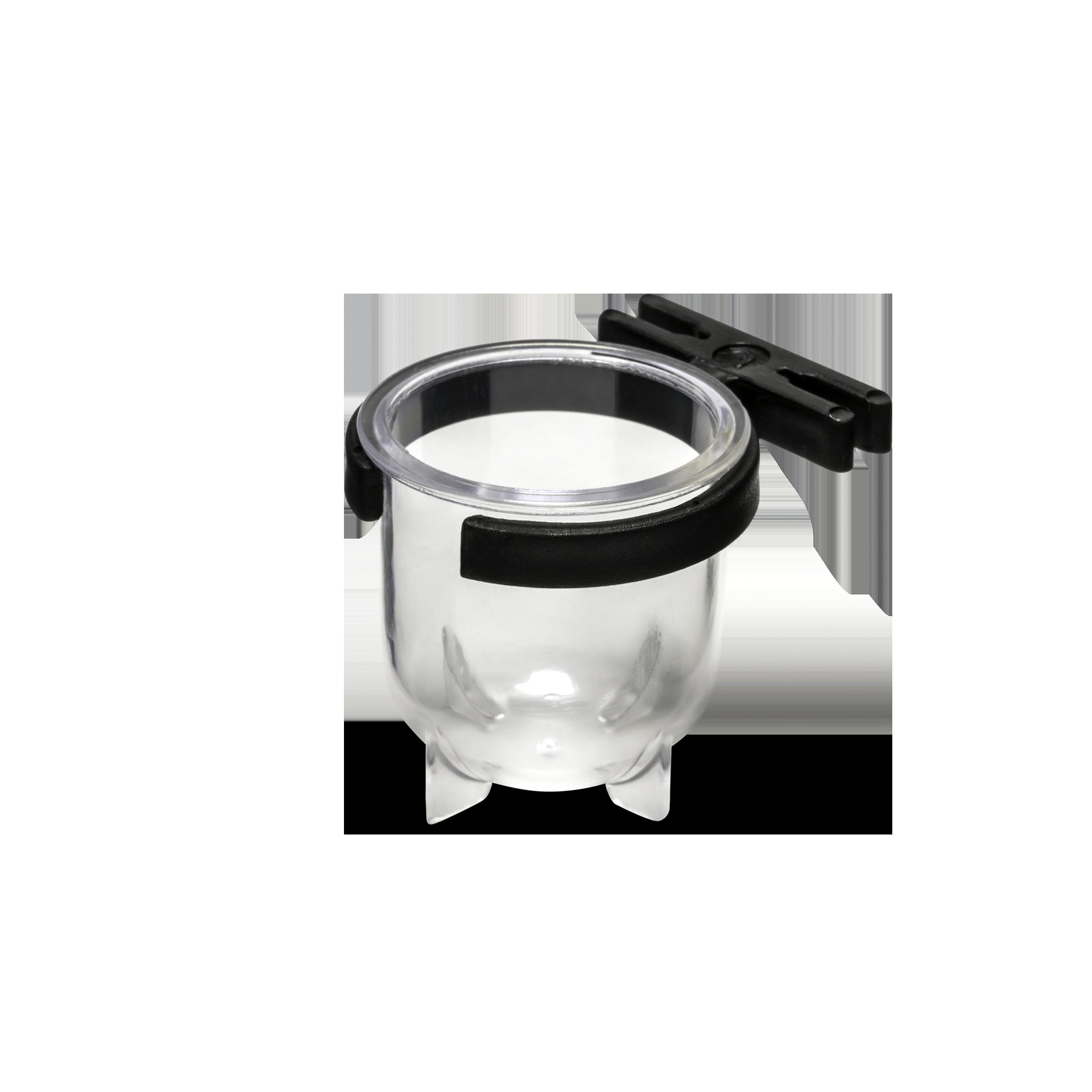 Porta Vitaminas Pequeno Luxo Cristal Com Presilha Preta